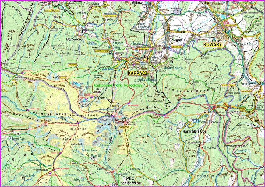 Mapa Karkonoszy Karpacz Pl